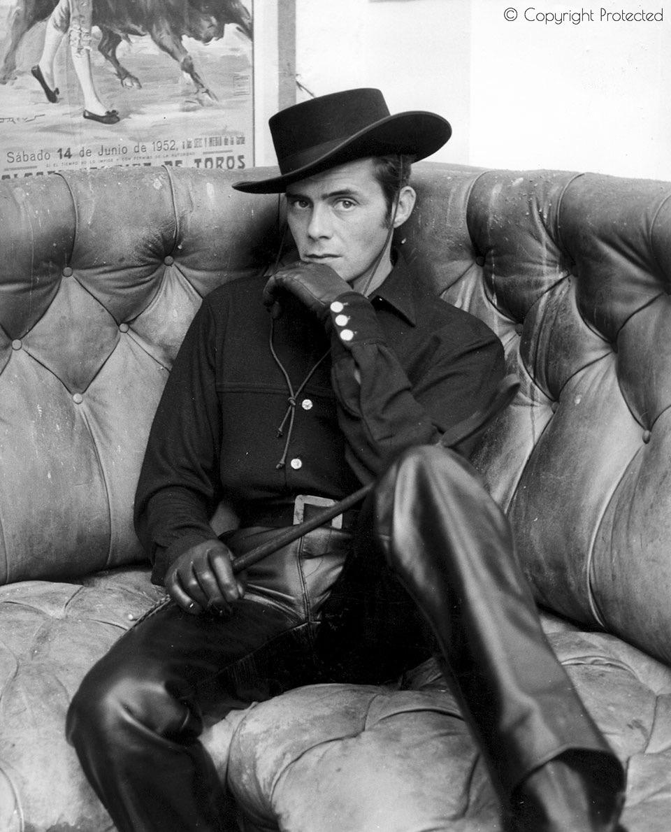 Dirk Bogarde in leather