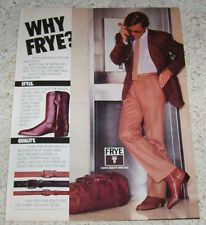 Frye boots ad