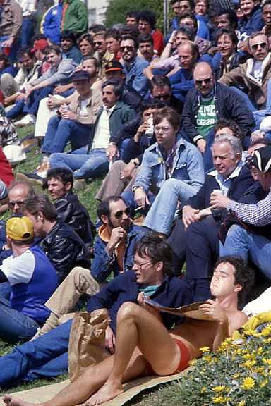 Gay softball game in San Francisco, 1977