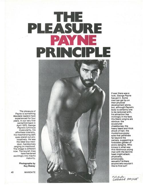 George Payne - The Pleasure Payne Principle interview continued