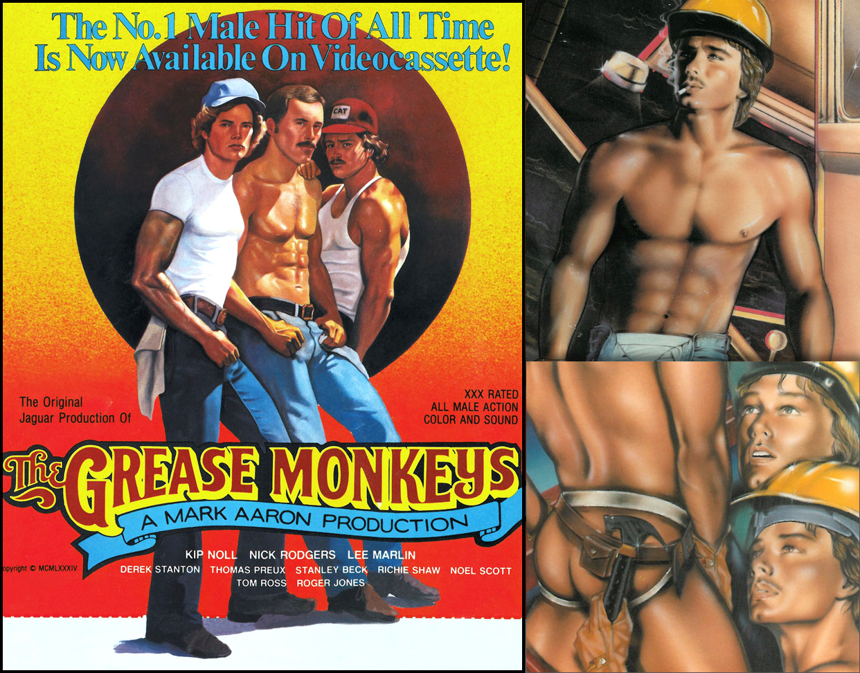 Vintage ads for Grease Monkeys and Hardhat