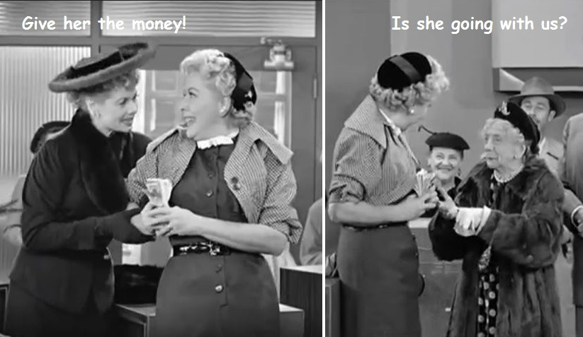 Lucy and Ethel's fraudulent raffle