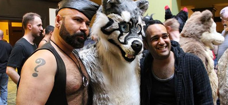 Leathermen and furries at IML