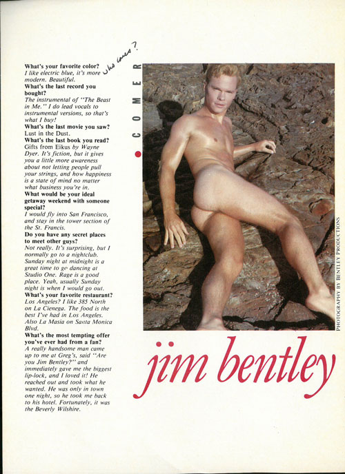 Jim Bentley Male Review interview, page 1