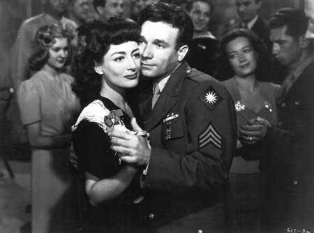 Joan Crawford dancing with soldier in Hollywood Canteen