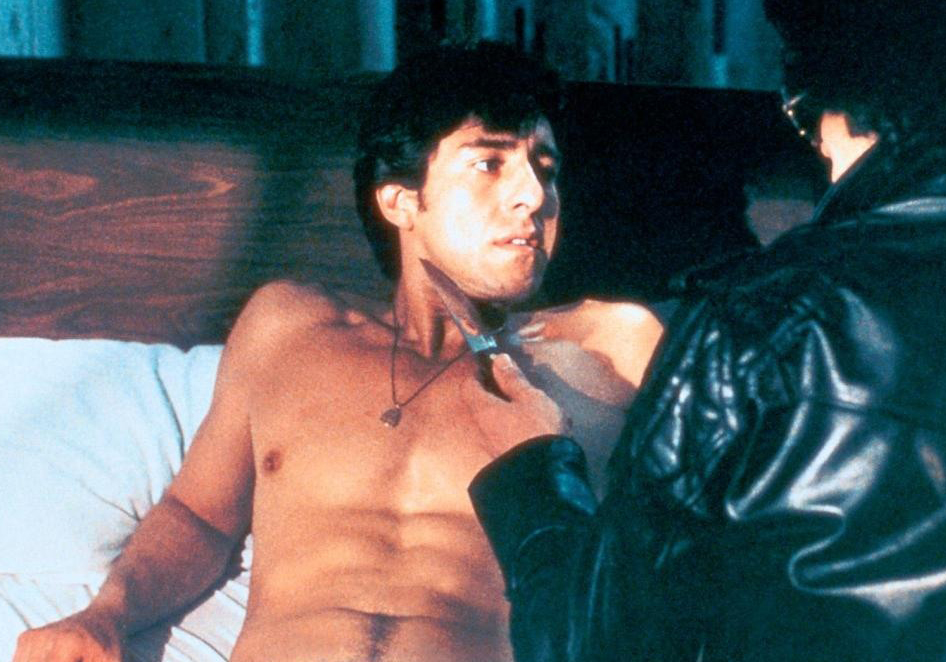 Loren Lukas with a knife to his throat in Cruising