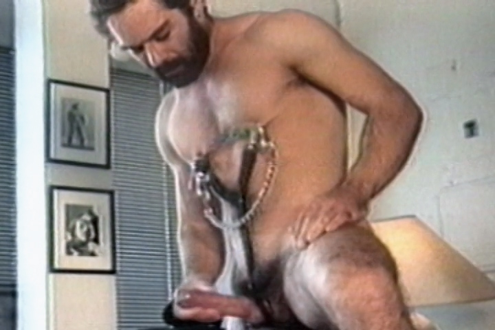 Jason Steele jerking off with nipple clamps in Big Bear Men