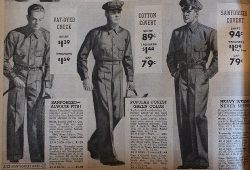 1930s men's work uniforms