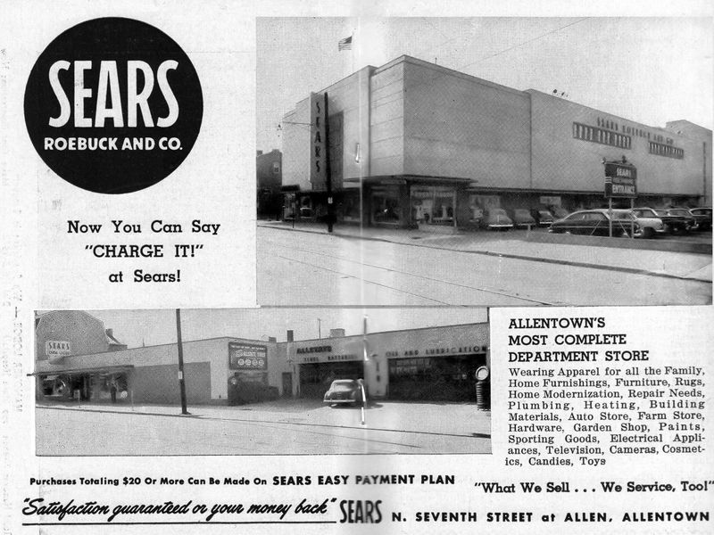 Sears department store opening advertisement