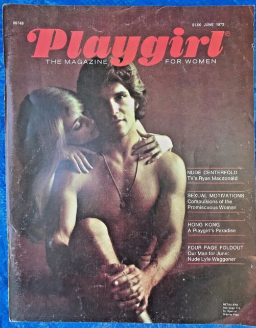 Lyle Waggoner in the first issue of Playgirl