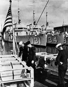 Sailors at 1940s great lakes naval base