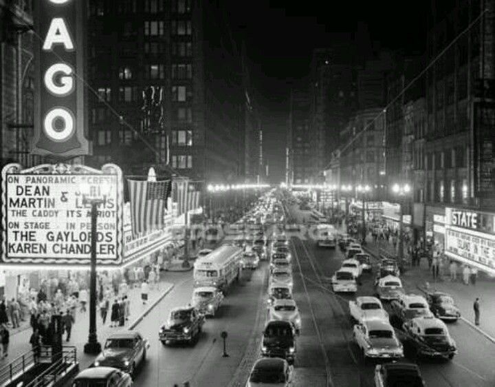 Chicago theater and other State Street theaters in Chicago, 1950