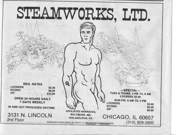 Steamworks, Chicago bathhouse poster
