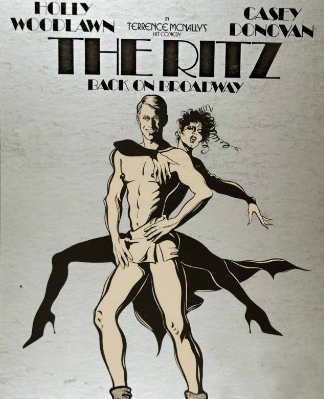 Poster for Woodlawn and Donovan in the revival of The Ritz