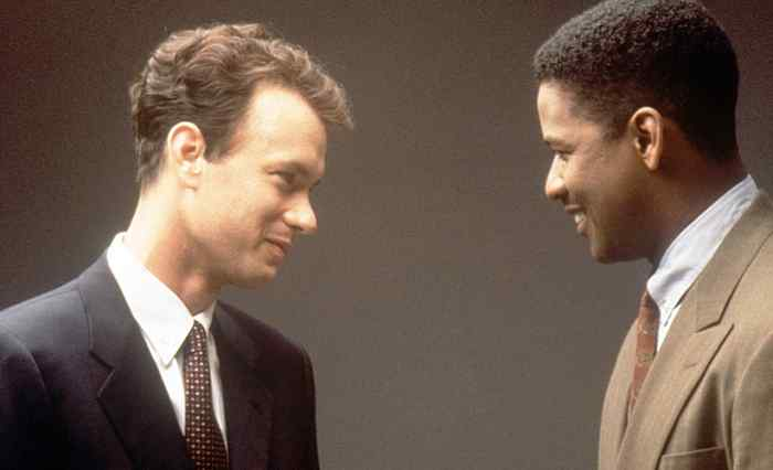 Tom Hanks and Denzel Washington in Philadelphia