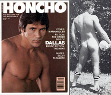 Ty Arthur in Honcho issue and nude from behind